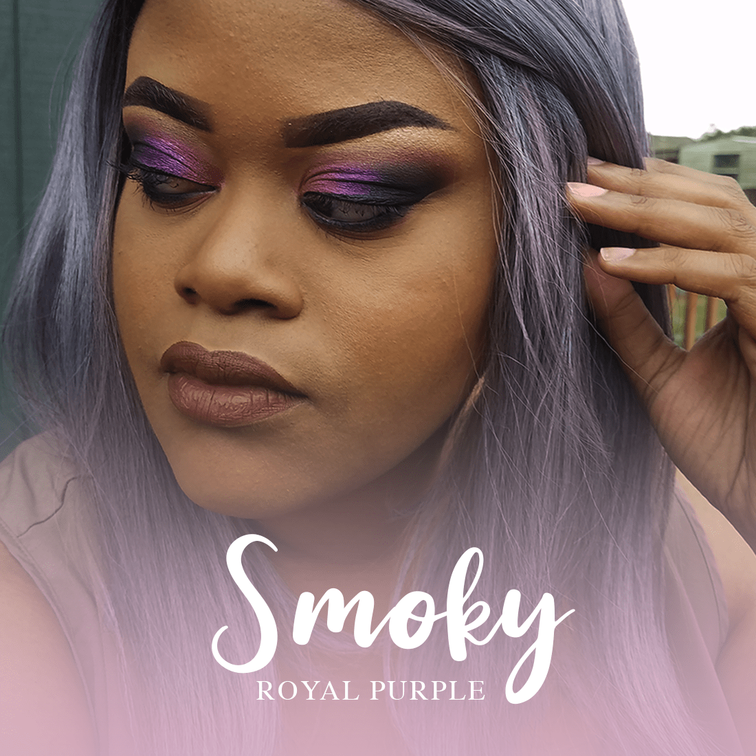 Smoky Royal Purple Look